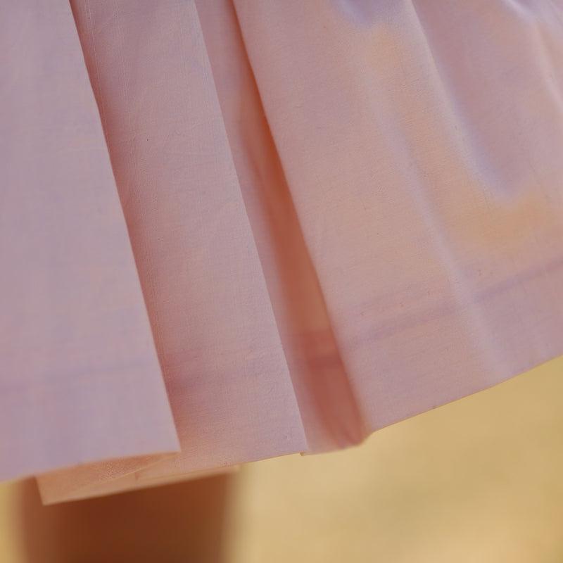 Blush Silk Doll Skirt - Silver Links Design