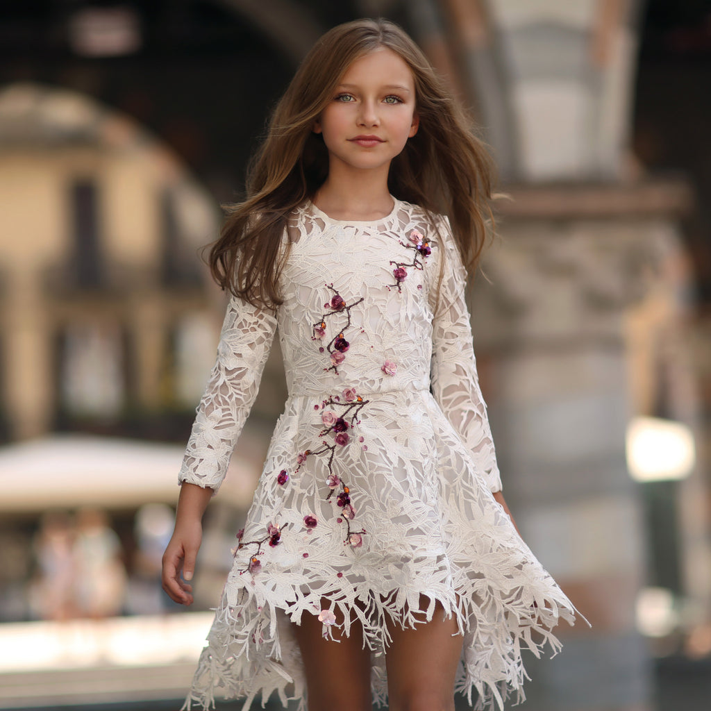 White Lace Cherry Blossom Frock