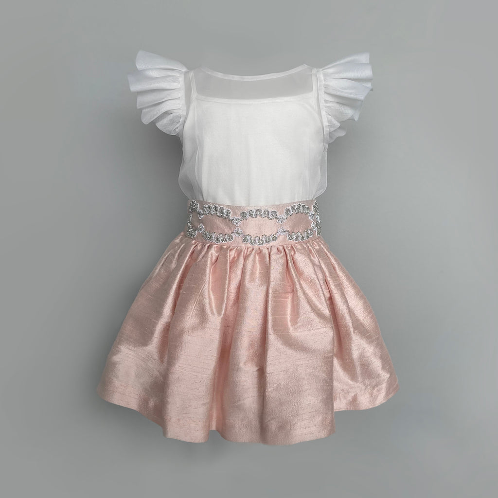 Penny Blush Doll Skirt in Natural Silk