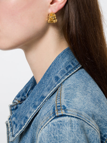 GOLD VORTEX STUD EARRINGS