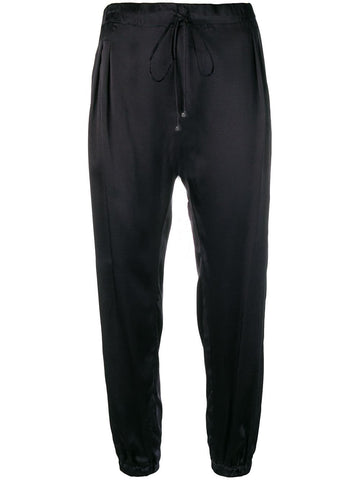 Coup de Coeur London Black silk joggers