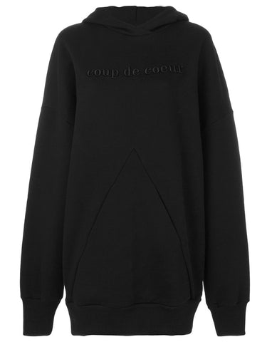 PYRAMID POCKET EMBROIDERED HOODIE (UNISEX)