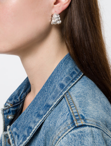 Coup de Coeur London Silver vortex stud earring