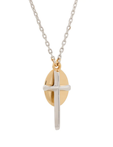 Coup de Coeur London Cross disc necklace