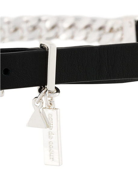 Coup de Coeur London Silver chain choker / wrap bracelet wear both ways close up details