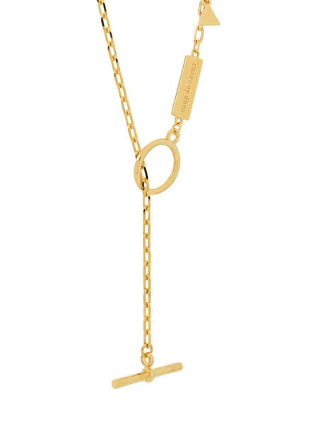 GOLD T-BAR NECKLACE