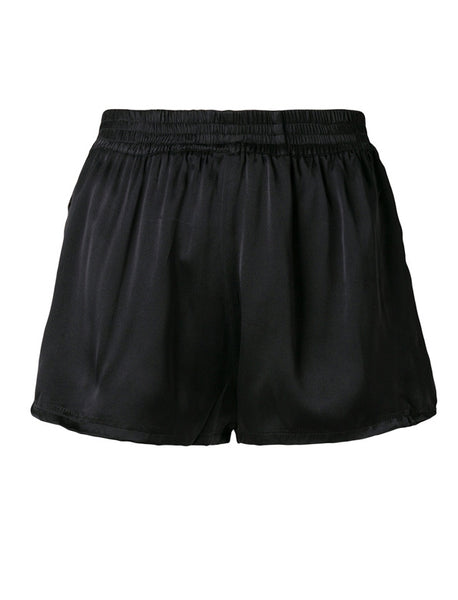 Coup de Coeur London Silk shorts with zebra detail back