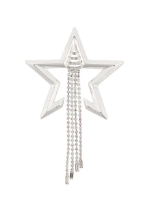 Coup de Coeur London Silver star crystal drapped brooch