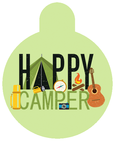 Happy Camper Pet Tag