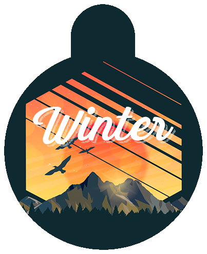 Mountain Sunset Pet Tag