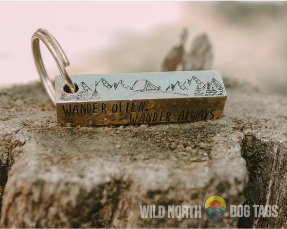 Wander With Odin Large Bar Tag