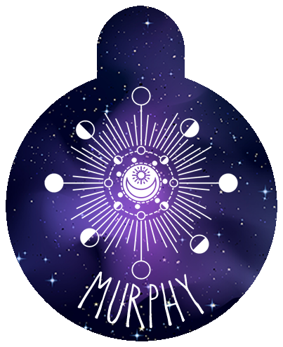 Moon Phase Pet Tag