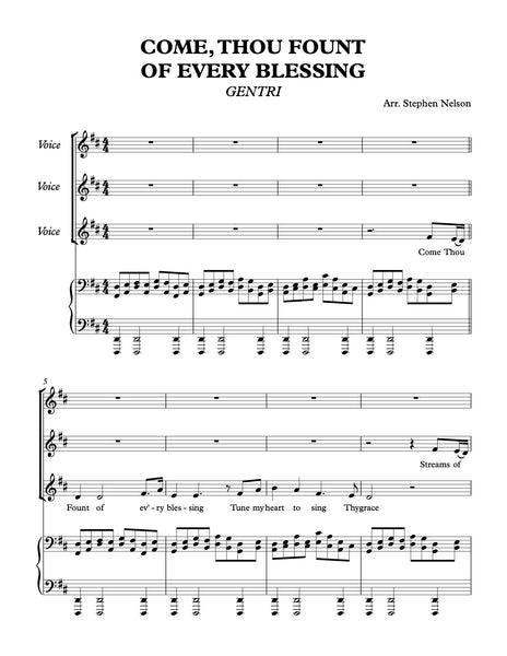 Come Thou Fount of Every Blessing Sheet Music