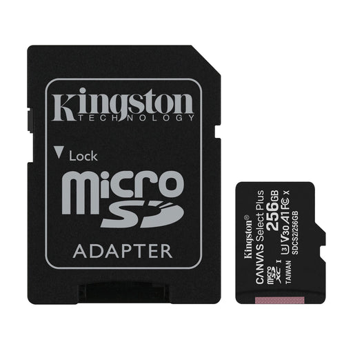 Kingston 256 GB Canvas Select Plus MicroSD Card with SD Adapter