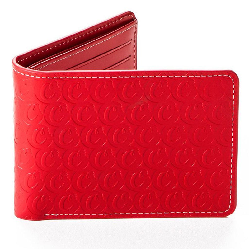 Leather Monogram Wallet (Red) | Cookies Clothing
