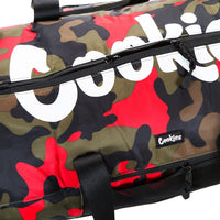 Summit Ripstop Smell Proof Duffle Bag (Red Camo) Detail | Cookies Clothing