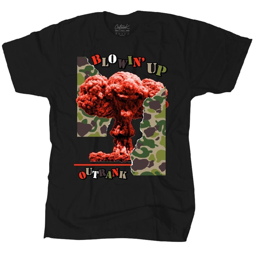 Blowin' Up Tee (Black) | Outrank Clothing
