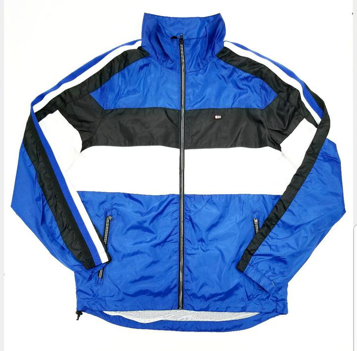 Colorblock Windbreaker (Royal)