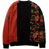 Camo Pieced Crewneck (Black)
