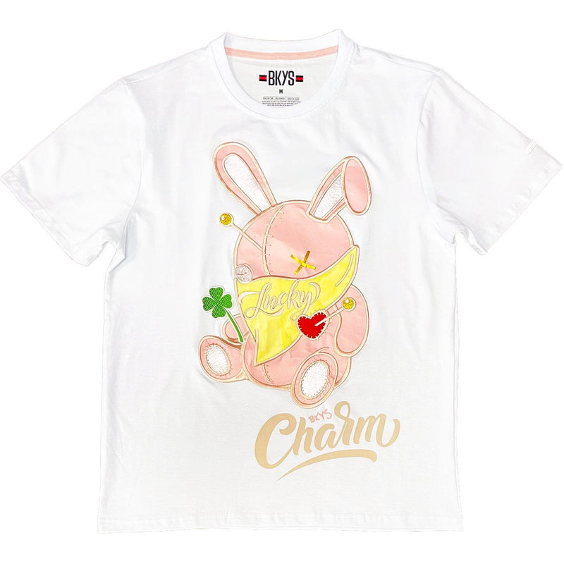 Lucky Charm with Mask Tee (White) | BKYS Black Keys