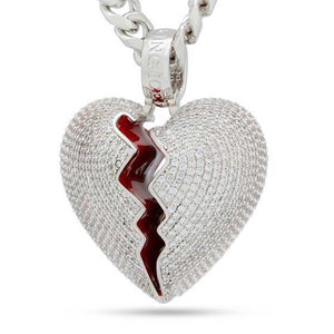 Broken Heart Necklace Rear | King Ice