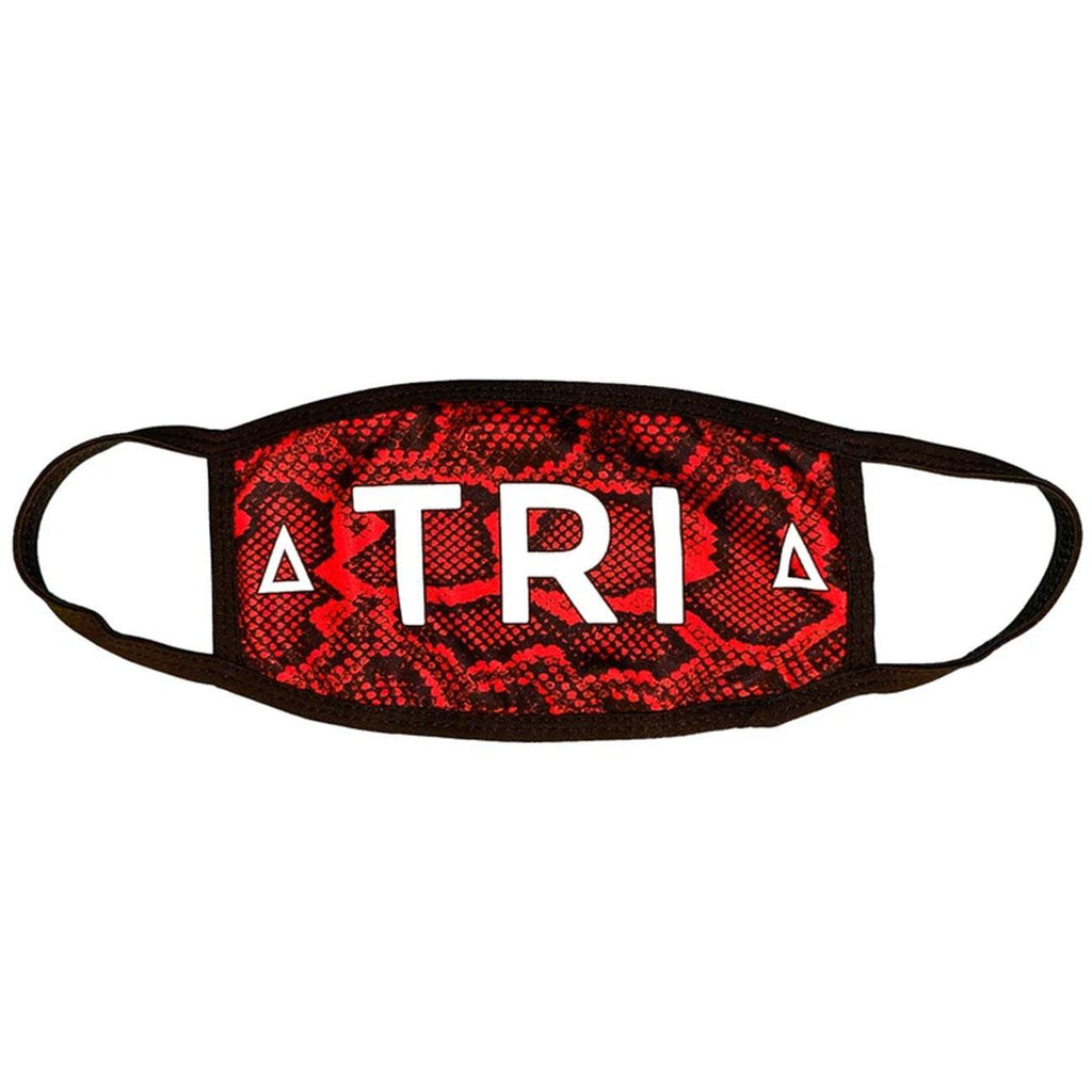 Red Snake Skin Mask | Triangulo Swag