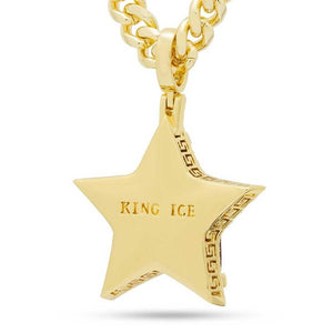 Ruby Star Necklace Rear | King Ice