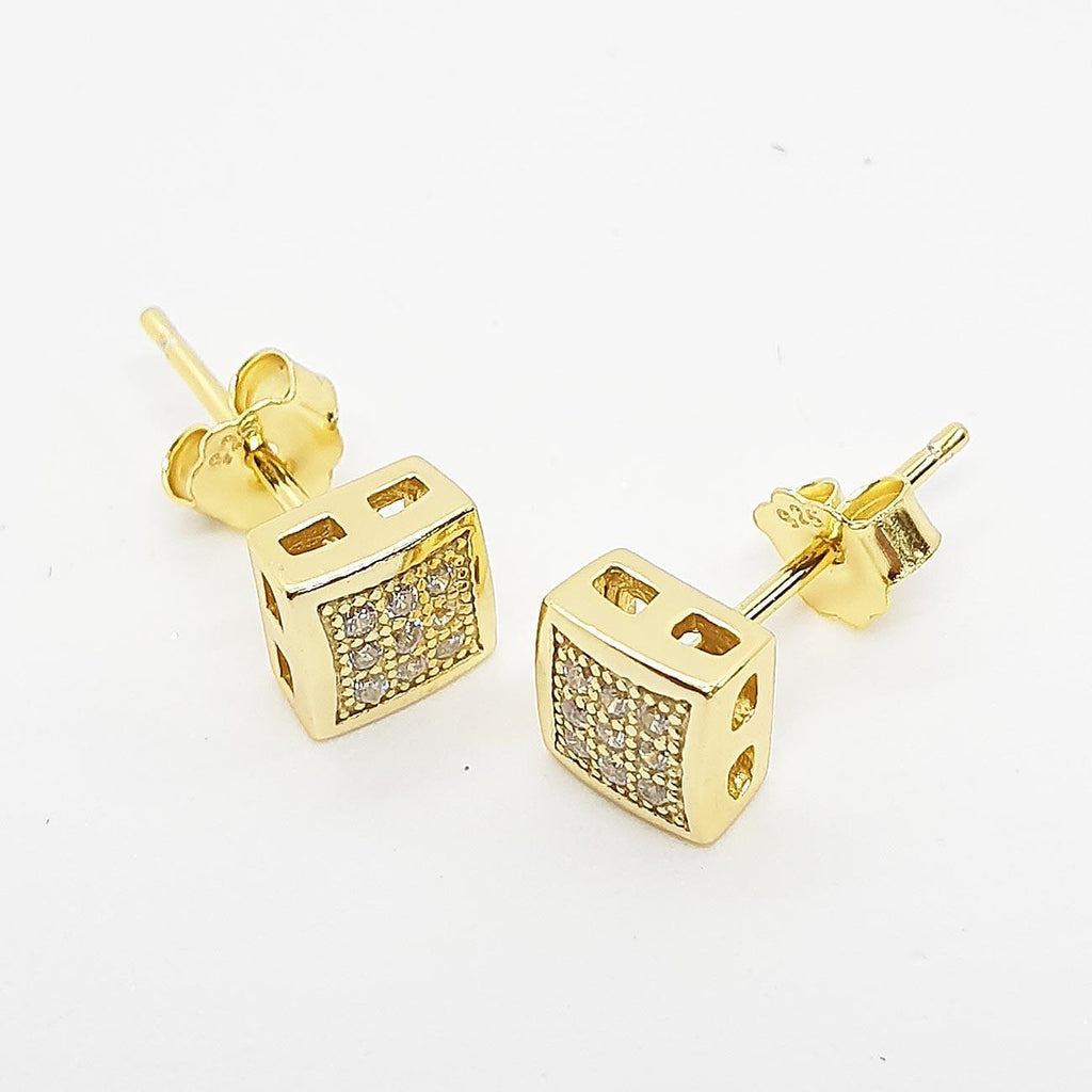 Small Convex Square Earrings | Urban Street Wear