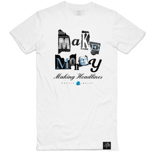 Chrome Make Headlines Tee (White)