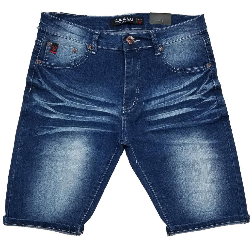 True Blue Wash Jean Shorts | Kaalu Jeans