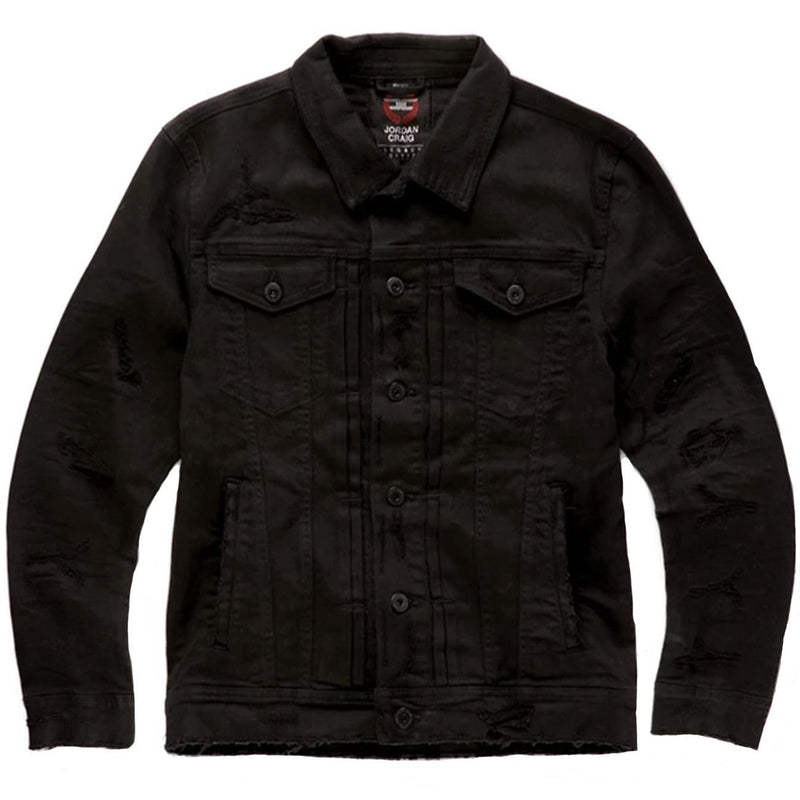 Tribeca Twill Trucker Jacket (Black) | Jordan Craig