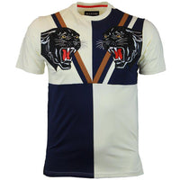 Double Panther T Shirt (Navy)