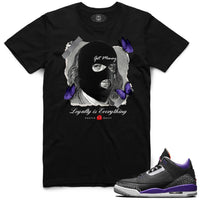 AJ3 PRP Loyalty Ski Mask Tee (Black)