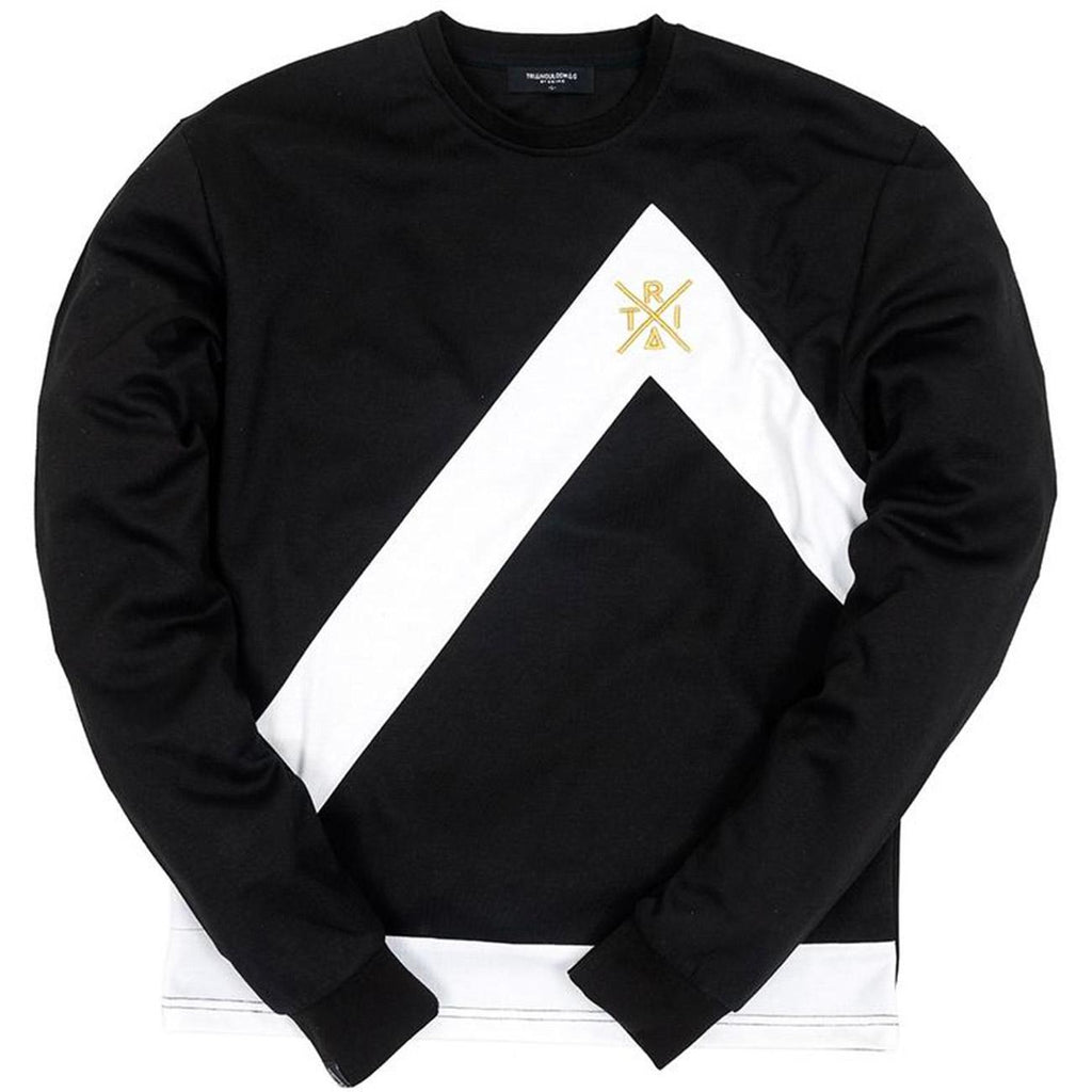 Triangulo Swag Crewneck (Black/White)
