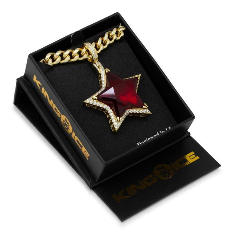 Ruby Star Necklace Box | King Ice
