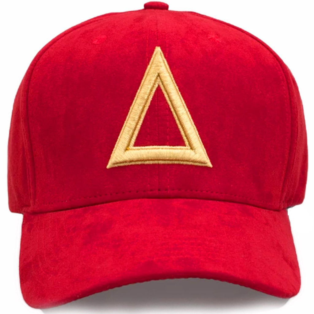 Triangulo Swag Tri Suede Dad Hat (Red/Gold)