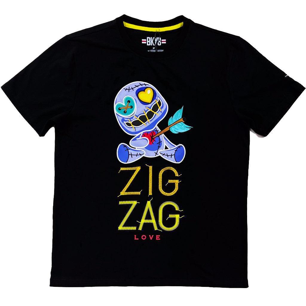 Zig Zag Tee (Black) | BKYS Clothing