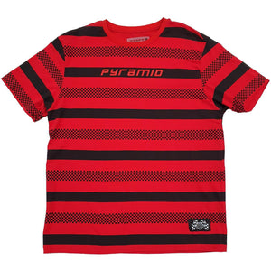 Checkered Stripe Tee (Red)