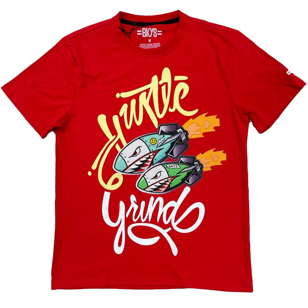 Hustle Grind Tee (Red) | BKYS Black Keys
