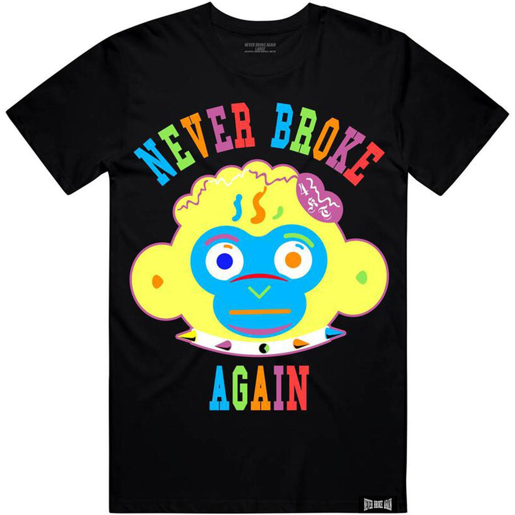 Monkey Head Colorful Tee (Black) | Never Broke Again Youngboy