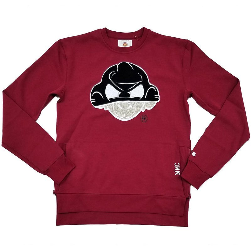 Monkey Money Goon Burgundy Crewneck