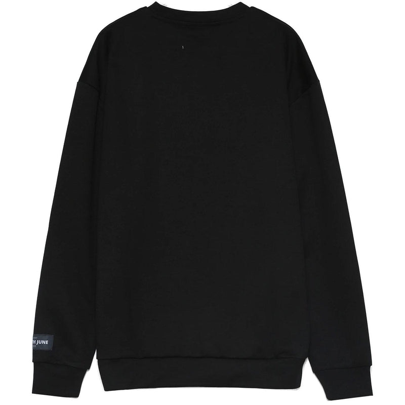 Basic Iridescent Sweatshirt (Black) Rear | Sixth June