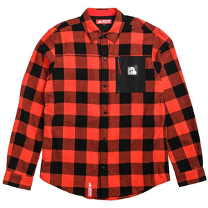 Glaciers of Ice Flannel Shirt (Black/Red)