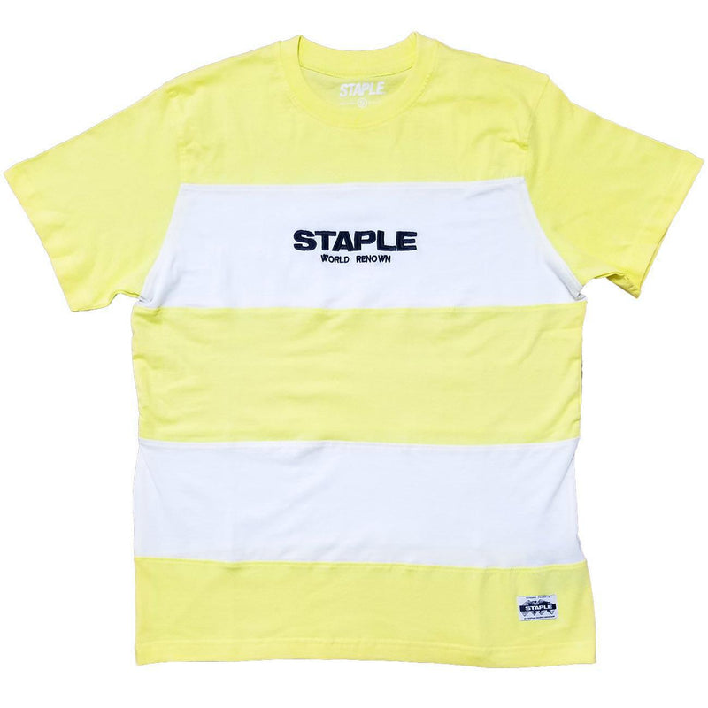 Block Stripe Logo Tee (Yellow) | Staple Pigeon