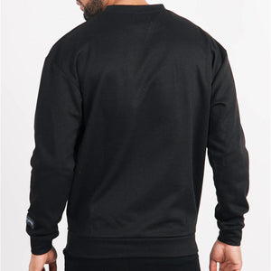 Basic Iridescent Sweatshirt (Black) Behind | Sixth June