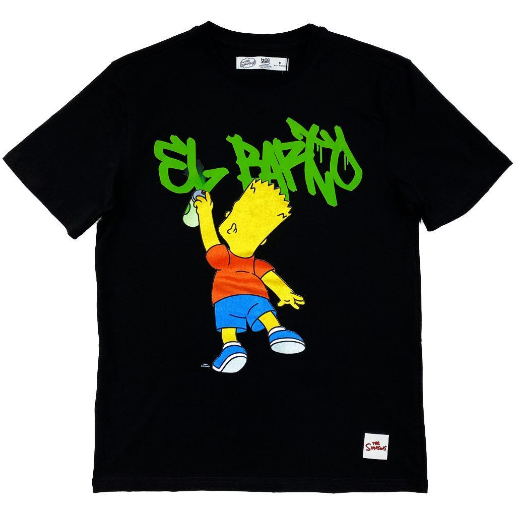El Barto Graffiti Tee (Black) | Freeze Max