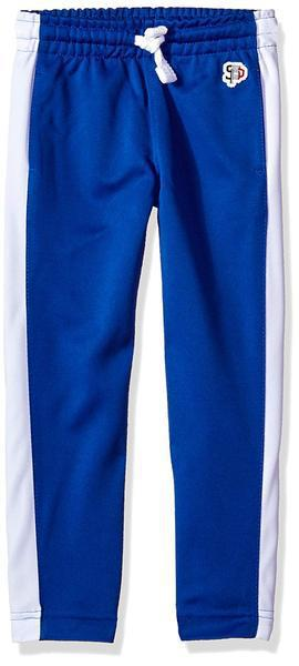 Skinny Track Pants (Blue/White)