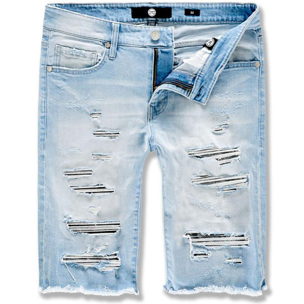 Abyss Denim Shorts (Ice Blue) | Jordan Craig