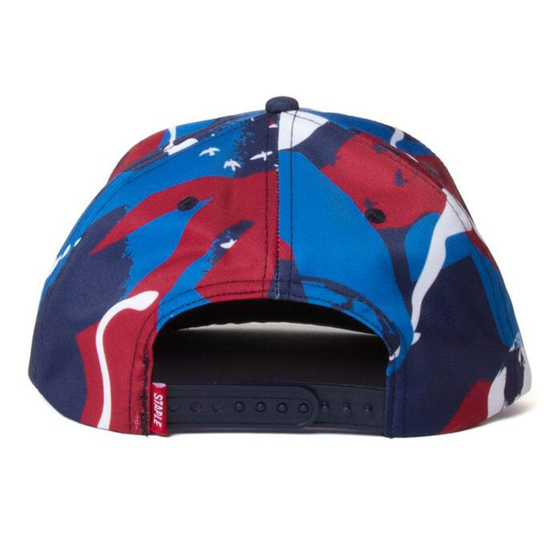 Sport Camo Snapback (Navy) Rear | Staple Pigeon