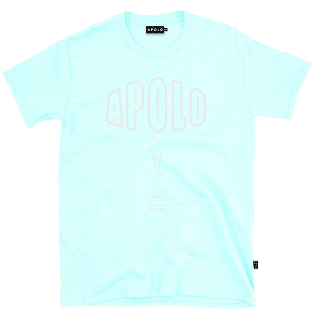 Outline Logo Tee (Aqua) | Apolo Apparel